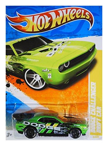 2011 HOT WHEELS 2011 NEW MODELS 6/50 GREEN DODGE CHALLENGER DRIFT CAR 6/244 - 1