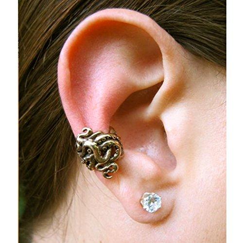 Bronze Ear Cuff Octopus Ear Cuff Tentacle Twist Ear Cuff Octopus Jewelry Steampunk Ear Cuff Steampunk Earcuff Non-Pierced Earring Tentacle Jewelry Tentacle Earring Tentacle Ear Wrap,