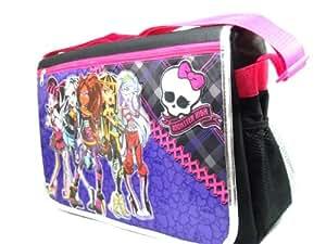Monster High Messenger Bag in Purple School Shoulder Book Bag [Toy]