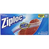 Ziploc Gallon Economy Pack Freezer Bag, 40 Count