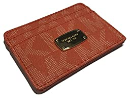 Michael Kors Credit Card Case Signature PVC Tangerine