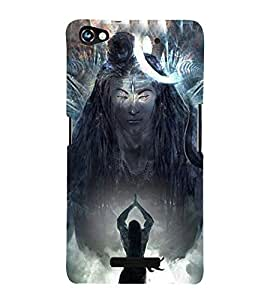 Lord Shiva 3D Hard Polycarbonate Designer Back Case Cover for Micromax Canvas Hue 2 A316
