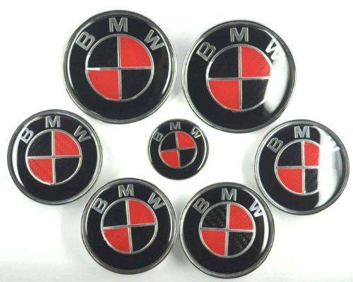 xtremeamazing-7-pcs-carbon-fiber-emblem-badge-for-bmw-red-black-82mm-82mm