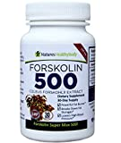 Forskolin 500 mg Super MAX - Pure Coleus Forskolin 500 Root Extract - Double the strength of the Forskolin 250 mg - Highest Extract concentration on the Market! - Standardized to 20% yielding an incredible 100 mg Active Forskolin - Belly Buster - Promotes the Breakdown of Stored Fat, Fat Blocker, Increases Metabolism and is an Appetite Suppressant - 30 capsules -1 Month Supply. - No Side Effects