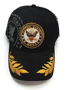 US Navy Shadow Emblem Logo Seal Crest Eggs Feather Feathers Baseball style Hat Cap (Black)