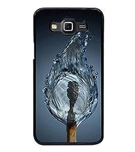 Fuson Premium 2D Back Case Cover Magic match stick With Black Background Degined For Samsung Galaxy E7::Samsung Galaxy E7 E700F