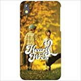 HTC Desire 816G - Heart & Fire Phone Cover