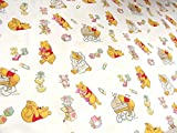 100 Cotton Fabric Material Disney BABY CREAM WINNIE THE POOH