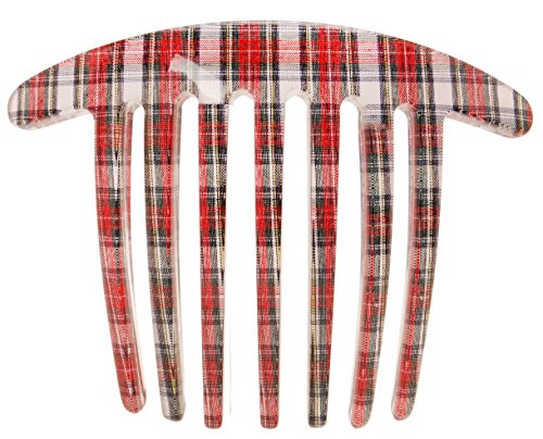 France Luxe Handmade French Twist Comb - Red/White