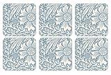 Pimpernel 10.5 x 10.5 cm MDF with Cork Back Marigold Coasters, Set of 6, Blue/Multi-Colour