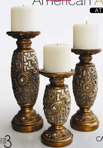 DECORATIVE CANDLEHOLDERS SET OF 3