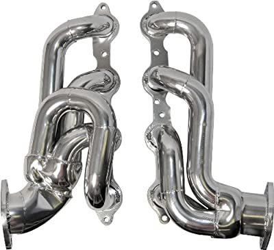 "BBK 40200 1-3/4"" Shorty Tuned Length Performance Exhaust Headers for Camaro SS, LS3, L99 - Polished Silver Ceramic Finish"