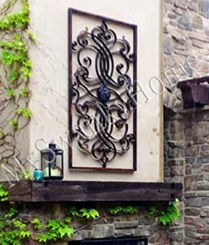 Awesome Extra Large WALL ART Iron Scroll Oversize Indoor or Outdoor