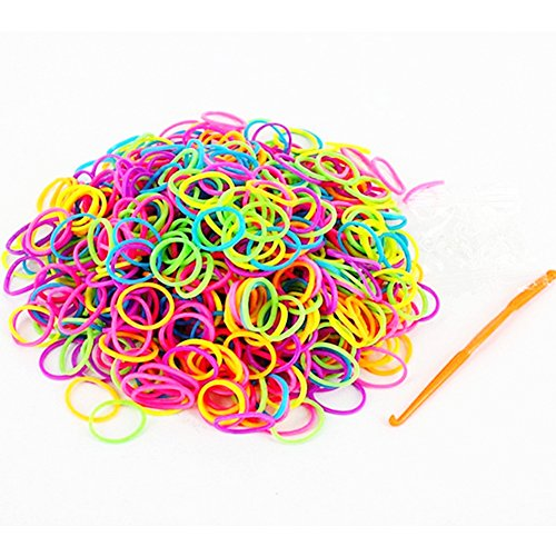 RAINSTORM Loom Rubber Bands Accessory Kit Set for Bracelets with S-clips and Plastic Loom Hook/Lead and Latex Free,Safe for Children/20 Beautiful Colors as Pictures and 600pc Rubber Bands for Each Color/Mix Color 3