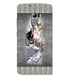 PrintDhaba Bold Animated Bride D-3566 Back Case Cover for LENOVO VIBE X3 LITE (Multi-Coloured)