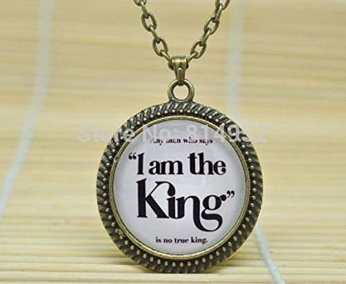 SunShine Day Glass Cabochon Necklace Game Of Thrones 'I Am The King' Joffrey And Tywin Lannister Necklace Glass Dome Cabochon Necklace