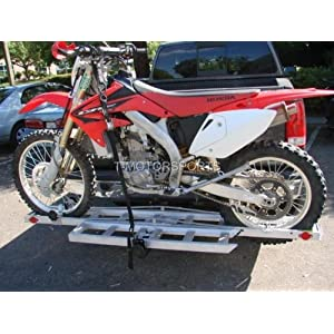 ... A Good Weight Rating And A Motorcycle Trailer(the One That Connects To  The Hitch And The Weight Of The Bike Is On The Hitch Instead Of A Real  Trailer).