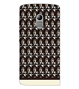 PrintDhaba Face pattern D-1550 Back Case Cover for LENOVO K4 NOTE A7010a48 (Multi-Coloured)
