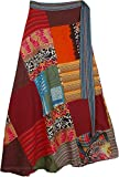 """TLB - Womens Patchwork Long Skirt Wrap Around - L:36""""-37""""; W:24""""-38"""""""