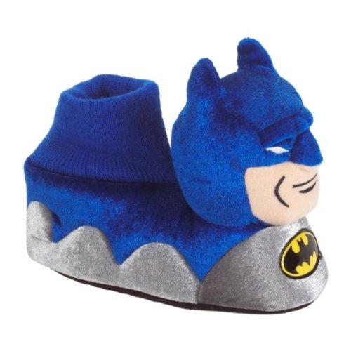 Image of DC Comics Batman Young Boys Plush Sock Top Slippers Sizes 5/6-7/8 (B0076O3PWS)