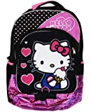 """Hello Kitty Backpack - Black/Pink, 16"""""""