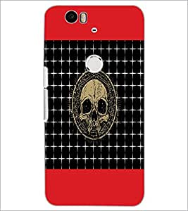 PrintDhaba Skull D-4743 Back Case Cover for HUAWEI NEXUS 6P (Multi-Coloured)