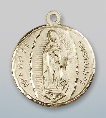 14kt Gold O/L of Guadalupe Medal loverjewelry 11x13mm 14kt 2t018