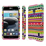 Mpero Snapz Series Rubberized Case for LG Optimus F6 D600 - Aztec Fiesta