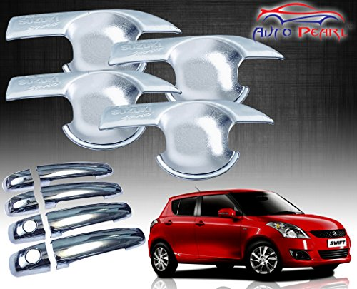 Autopearl Premium Quality Chrome Handle Bowl Insert Trim Cover For – Maruti Suzuki New Swift