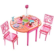 Mattel T7536 Barbie Dinner To Dessert Dining Room Set