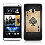 CelebrityCase Polycarbonate Hard Back Case Cover for HTC ONE ( M7 ) ( Vintage Ace Of Spades )