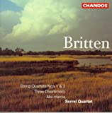 Britten: String Quartets Nos. 1 and 3 / 3 Divertimenti / Alla Marcia