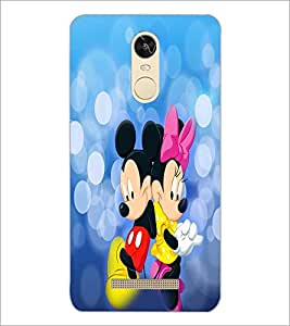 PrintDhaba Mickey and Minnie D-3476 Back Case Cover for XIAOMI REDMI NOTE 3 (Multi-Coloured)