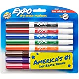 Expo Low-Odor Dry Erase Markers, Fine Point, 8-Pack, Assorted Colors