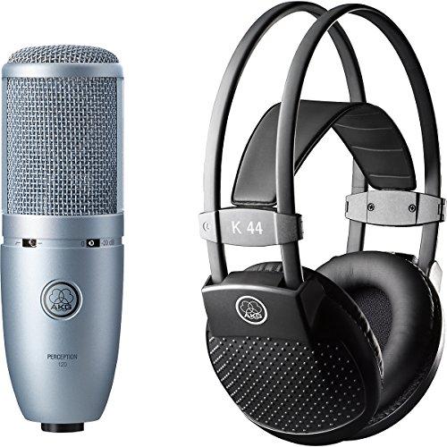 Akg Perception 120 Condenser Mic With K 44 Headphones