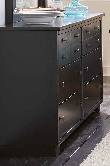 Contemporary Dresser in Black Finish