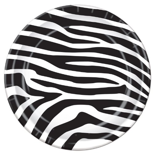 Classic Zebra Stripes Party Plates - ideal for 80s theme