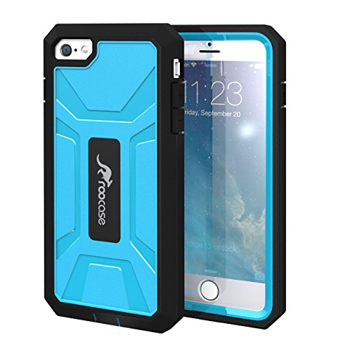 Iphone 6 Case, By Roocase Kapsul Series Pc/Tpu Hybrid Armor Military Case With Front Cover And Built-In Screen Protector For Apple Iphone 6 4.7, Blue front-1017121