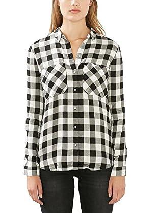 edc by ESPRIT Camisa Mujer (Negro / Blanco)