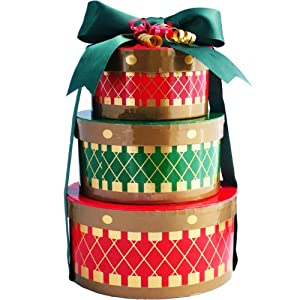 Art of Appreciation Gift Baskets Holiday Drums Gourmet Christmas Snacks Gift Tower