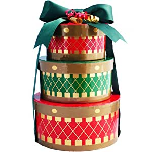 Art of Appreciation Gift Baskets Holiday Drums Christmas Holiday Snacks Gift Tower