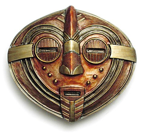 african masks art. AFRICAN MASK Belt Buckle