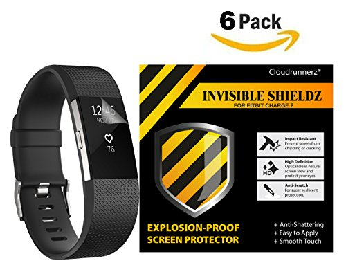 fitbit-charge-2-screen-protector-6-pack-cloudrunnerz-premium-clear-shatterproof-screen-protector-for