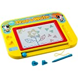 Buyus [Travel Size] Color Magnetic Drawing Board for Kids/Toddlers/Babies/Adults with 2 Stamps and 1 Pen - Retail Box - Also Named Magic Magical Doodle/Scribble/Writing/Draft/Sketch Tablet Pad