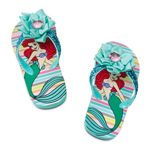Disney The Little Mermaid Ariel Flip Flops Size 11-12 front-58588