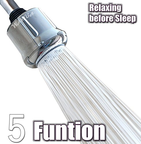 WantBa Power Body Massage Spa High Pressure 5 Function Shower Head Chrome Finish Adjustable Fixed Showehead (Shower Head Massage High Pressure compare prices)