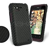 Femeto Black Carbon Fibre Back Cover Case for HTC Rhyme HTC Rhyme Case Cover