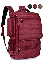 Laptop Backpack ,BRINCH(TM) Multifunctional Unisex Luggage & Travel Bags Knapsack,rucksack Backpack Hiking Bags Students School Shoulder Backpacks Fits Up to 17 Inch Laptop Macbook Computer,Red