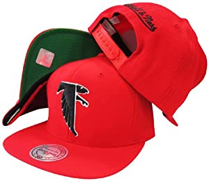 Atlanta Falcons Mitchell & Ness Vintage Basic Logo Red Snap Back Hat by Mitchell & Ness