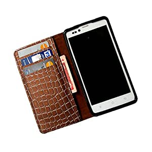 i-KitPit PU Leather Wallet Flip Case For Micromax Canvas Lite A92 (BROWN)